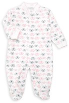 Royal Baby Baby Girl's Printed Pima Cotton Footie