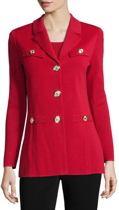 Misook Dressed Up Button-Front Jacket
