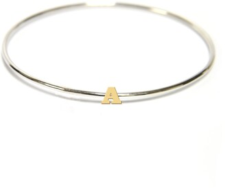 Jane Basch Designs Two-Tone Initial Bangle