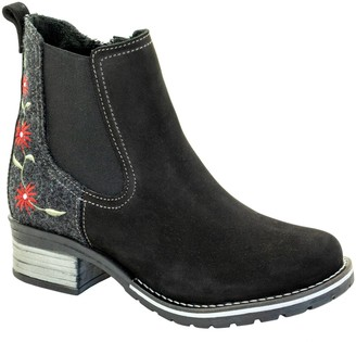 Dromedaris Leather Inside-Zip Chelsea Boots - Kourtney Burel