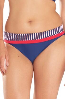 Curvy Kate Women's Ahoy Fold Over Brief Bikini Bottoms