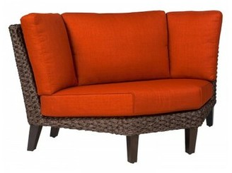 Woodard Mona Wedge Corner Patio Sectional Piece with Cushions Woodard Fabric: Canvas Chestnut
