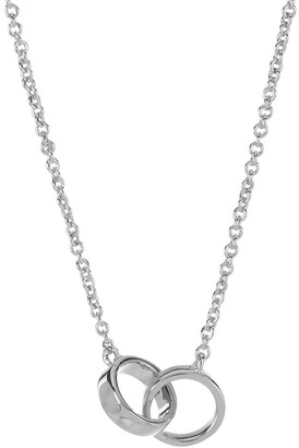 Sterling Forever Sterling Silver Polished Interlocking Circle Pendant Necklace