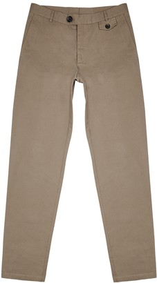 Oliver Spencer Fishtail brown cotton trousers