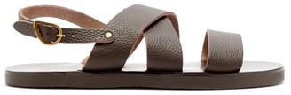 Ancient Greek Sandals Miltos Leather Sandals - Mens - Dark Brown