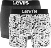 Levi's Levis 200SF Underwear 2 Pack Boxer Briefs Black