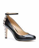 Ann Taylor Rhea Exotic Leather Ankle Strap Heels