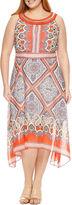 Studio 1 Sleeveless Embellished Paisley Fit & Flare Dress-Plus