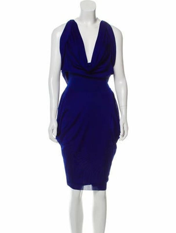 Alexander McQueen Draped Midi Dress