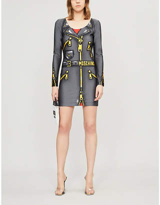 Moschino Graphic-Print Stretch-Jersey Mini Dress