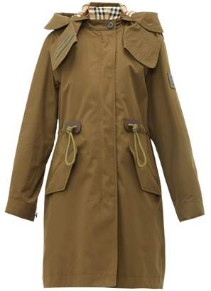 Burberry Polzeath Hooded Cotton Parka - Womens - Dark Khaki