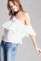 Forever 21 FOREVER 21+ One-Shoulder Ruffle Top
