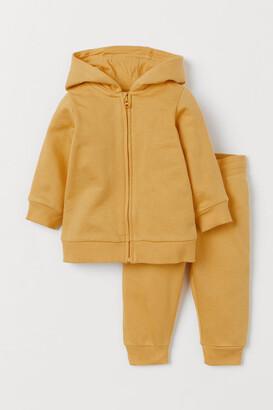 H&M 2-piece Sweatshirt Set - Yellow
