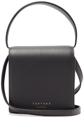 Tsatsas Malva 2 Grained-leather Cross-body Bag - Black