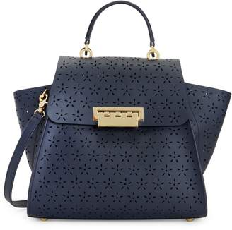 Zac Posen Eartha Laser-Cut Leather Top Handle Bag