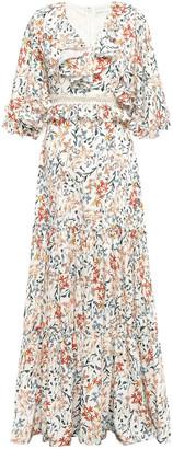 Sachin + Babi Ruffle-trimmed Satin-twill Maxi Dress