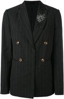 Brunello Cucinelli pinstripe double-breasted blazer - women - Linen/Flax/Virgin Wool - 42