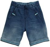 Vintage Effect Cotton Sweat Shorts