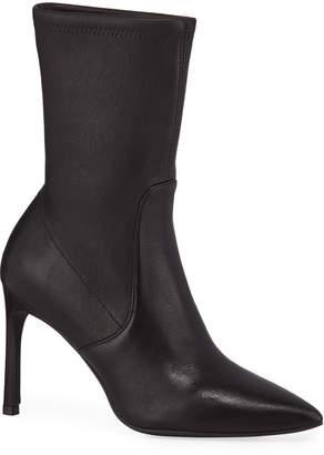 Stuart Weitzman Wren Leather Sock Booties