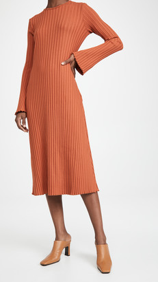 Simon Miller Rib Wells Long Sleeve Dress