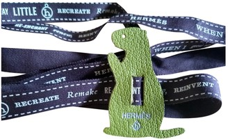 Hermã ̈S HermAs Petit H Green Leather Bag charms
