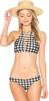 Bettinis Strappy Halter Tie Top in Black & White. - size M (also in )