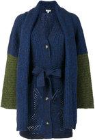 Kenzo knit tied cardigan - women - Polyamide/Wool/Alpaca - XS