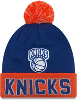 New Era New York Knicks Hardwood Court Big Reflective Knit Hat