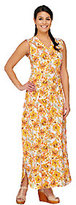 As Is Denim & Co. Perfect Jersey Printed V-Neck Maxi Dress