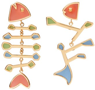 Tory Burch Fish Multi-Color Mismatched Earring