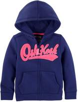 Osh Kosh Oshkosh Bgosh Girls 4-14 Logo Applique Zip-Up Hoodie