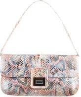 Kara Ross Python Embellished Shoulder Bag w/ Tags