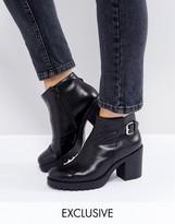 Vagabond Grace Buckle Detail Black Leather Ankle Boots
