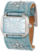 EOS New York Women's 9SBLU Copa Blue Leather Strap Watch