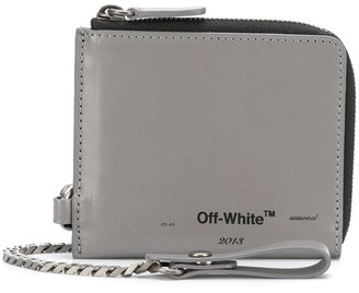 Off-White chain strap leather wallet
