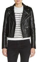 Maje Women's Lambksin Leather Moto Jacket