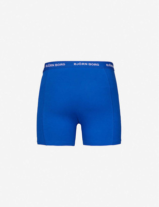 Bjorn Borg Pack of six Solid classic-fit stretch-cotton trunks
