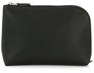 The Row Medium Square Leather Pochette