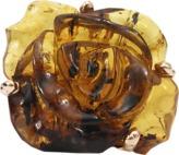 Lucifer Vir Honestus Carved Amber Flower Ring