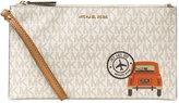 MICHAEL Michael Kors Illustrations Drive Away Large Zip Clutch