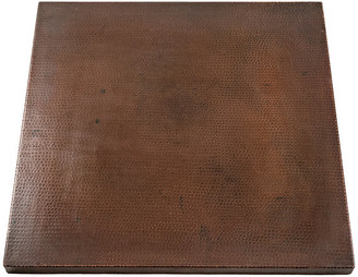 """Premier Copper Products 24"""" Square Hammered Copper Table Top"""
