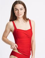 Marks and Spencer Twisted Ruched Tankini Top