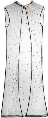 No.21 crystal-embellished mesh dress