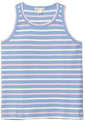 crewcuts by J.Crew Ribbed Tank Top (Toddler/Little Kids/Big Kids) (Peri Peony) Girl's Clothing