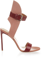 Francesco Russo Bi-colour leather and suede sandals