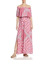 Show Me Your Mumu Printed Off-the-Shoulder Maxi Dress