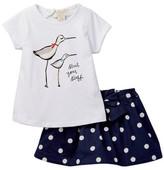 Kate Spade Sand Piper Tee & Skirt Set (Baby Girls)