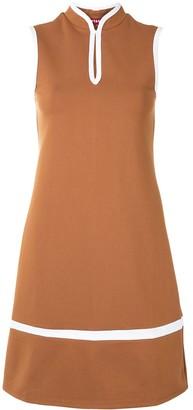 STAUD Mandarin-collar dress