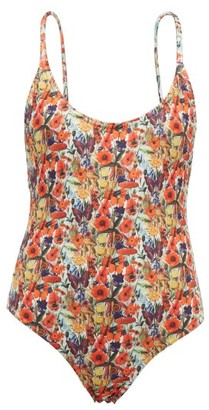Muzungu Sisters - Holly Poppy-print Swimsuit - Orange Multi