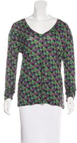 M Missoni Abstract Print Long Sleeve Top